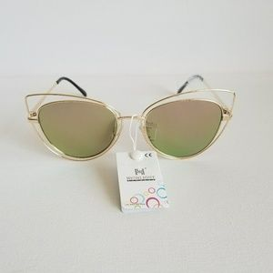 Mirror Cat Eye Sunglasses